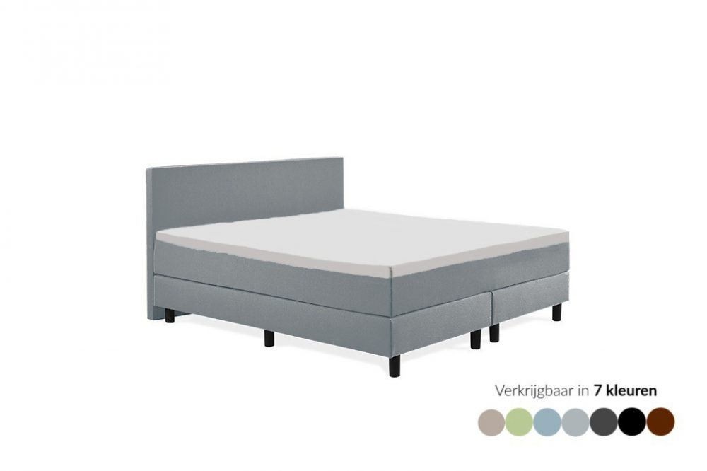 Tweepersoons boxspring Max grijs