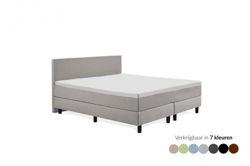 Tweepersoons boxspring Max lichtbruin